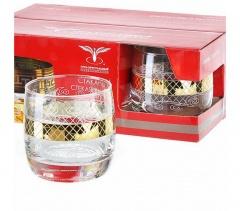 """Набор 6 - стаканов для виски с рисунком """"Винтаж"""" EAV25-808"""