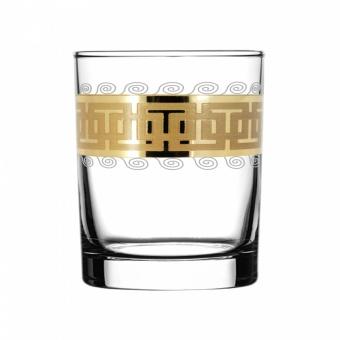 """Набор 6 стаканов для виски с рисунком """"Меандр"""" EAV26-405"""