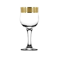 """Набор 6 фужеров для вина с рисунком """"Иллюзия"""" EAV65-163"""