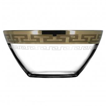 "Салатник 1 шт с рисунком ""Греческий узор"" (диаметр 19 см) GE03-1326"
