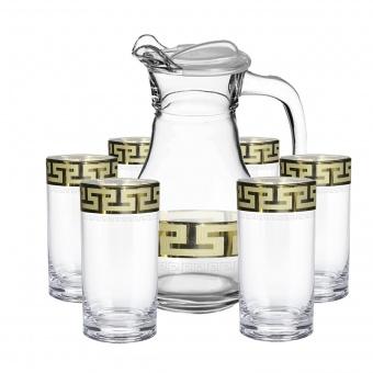 """Набор для воды 7 предметов с рисунком """"Греческий узор"""" GE03-3944/402"""