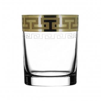 "Набор 6 шт стаканов для виски с узором ""Греческий узор"" GE03-405"