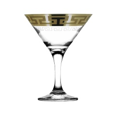 """Набор 6 бокалов для мартини с рисунком """"Греческий узор"""" GE03-410"""