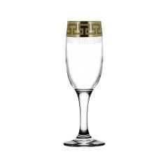 """Набор 6 бокалов для шампанского с рисунком """"Греческий узор"""" GE03-419"""
