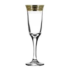 """Набор 6 бокалов для шампанского с рисунком """"Греческий узор"""" GE03-883"""