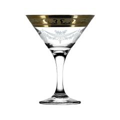 """Набор 6 бокалов для мартини с рисунком """"Русский узор"""" GE09-410"""