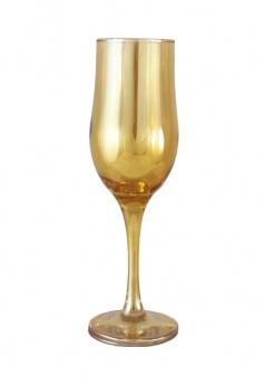 """Набор 6 бокалов для шампанского цвет """"Янтарь"""" С-160"""