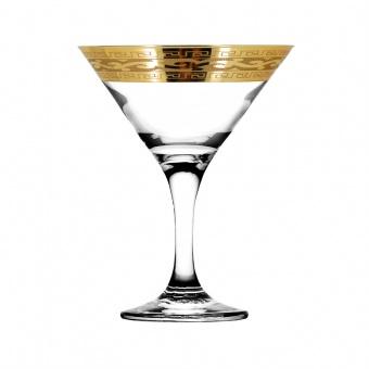 """Набор 6 бокалов для мартини с рисунком """"Версаче"""" EAV08-410"""