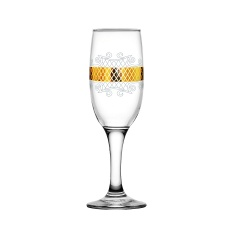 "Набор 6 бокалов для шампанского с рисунком ""Винтаж"" EAV25-419"