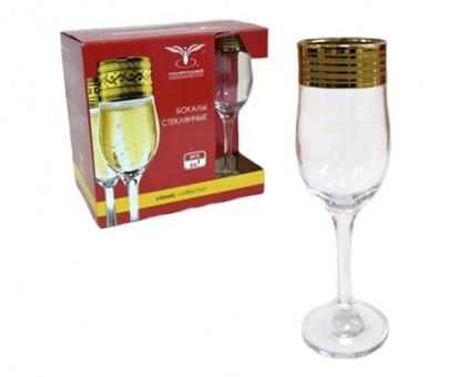 """Набор 6 бокалов для шампанского с рисунком """"Иллюзия"""" EAV65-160"""