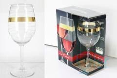 """Набор два фужера для вина серии """"Сомелье"""" с рисунком """"Мираж"""" EAV95-153"""