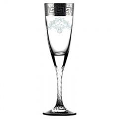 """Набор 6 шт бокалов для шампанского с узором """"Греческий узор"""""""