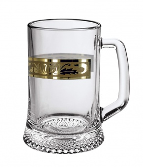 """Кружка для пива 0,5л с рисунком """"Русский узор"""" GE09-1008"""