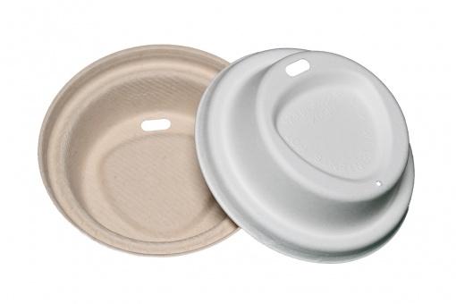 Крышка круглая из целлюлозы на  стакан 90 мм