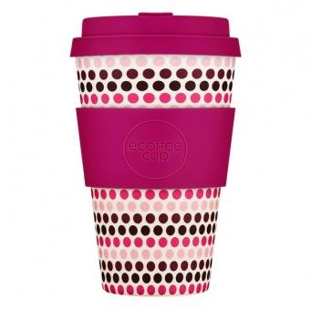 Ecoffee Cup Розовый горошек 400мл (14oz) / КОД 113