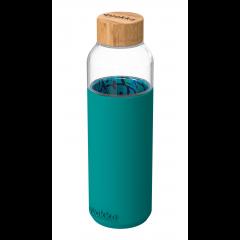 Бутылка стеклянная с силиконовым покрытием Пальмовые листья 660 мл / арт 40005