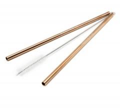 Многоразовые трубочки из нержавеющей стали (Цвет розовое золото) / КОД  700005
