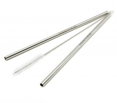 Многоразовые трубочки из нержавеющей стали ( Цвет серебро) / КОД 700003