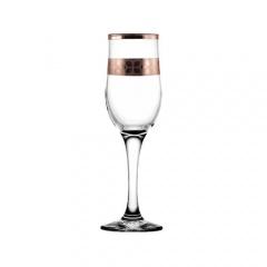 """Набор - бокалы для шампанского 6 шт с узором """"Шарм"""" цвет """"Рубин"""" TRV255-160"""