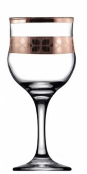 "Набор - бокалы для вина 6 шт с узором ""Шарм"" цвет ""Рубин"" TRV255-163"