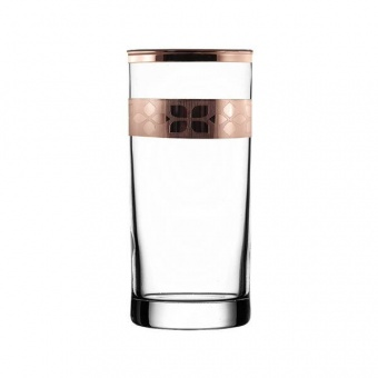 """Набор - стаканы для коктейля 6 шт с узором """"Шарм"""" цвет """"Рубин"""" TRV255-402"""
