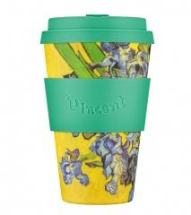 Ecoffee Cup Ирисы 400 мл (14 oz) SE / код 172