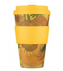 Ecoffee Cup Подсолнухи 400 мл (14 oz) SE / код 173